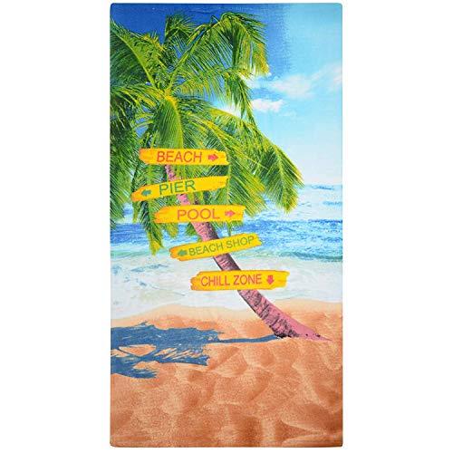 GEEZY Large Microfibre Beach Towel
