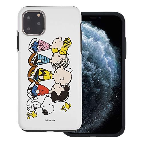 """iPhone 11 ケース と互換性があります Peanuts ピーナッツ ダブル バンパー ケース デュアルレイヤー 【 アイフォン 11 ケース (6.1"""") 】 (ピーナッツ 友達 立) [並行輸入品]"""