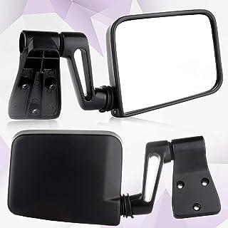 Manual Telescoping Black For 2007-17 Jeep Wrangler Passenger Side View Mirror