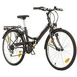 Multibrand, Folding City 24 Lady, 24 Pollici, 457mm, Mountain Bike Pieghevole, 18 velocit�...