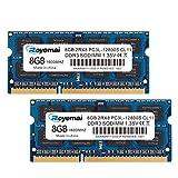 DUOMEIQI PC3-12800 DDR3L 1600MHz 16GB (8GB x 2) 1.35V CL11 2Rx8 Dual Rank 204 Pin Unbuffered Non-ECC SODIMM Laptop Notizbuch Arbeitsspeicher Module Upgrade