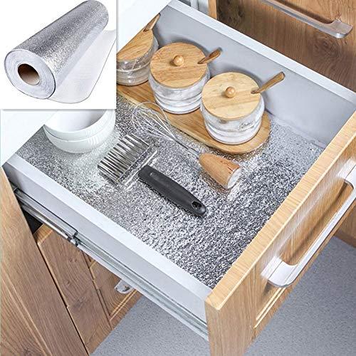 QWHUA 40 * 100 Cm Waterdicht Hoge Temperatuur Zelfklevende Olie-Proof Papier Aluminium Folie Papier Muurstickers Keuken Decoratie