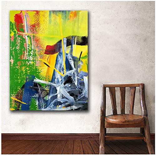 WSTDSM Drucke Wandkunst Gerhard Richter Korn Gemälde Wohnzimmer Wohnkultur Gemälde auf Leinwand Wandmalerei 24x32 IN No Frame