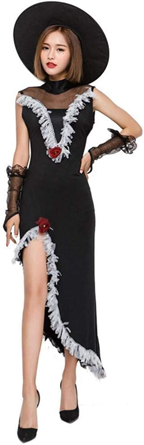 FashionCos1 Women Witch Dress Halloween Cosplay Costume Carnival Party Fancy Dress Sexy Outfit Sexy Witch Outfit (Size   L)