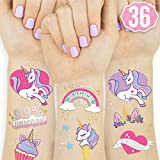 xo, Fetti Unicorn Party Supplies Temporary Tattoos for Kids - 36 Glitter Styles   Unicorn Party Favors and Birthday Decorations + Halloween Costume