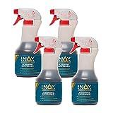 INOX® - Rimozione di ruggine per auto, 4 x 500 ml, rimozione di ruggine sulla superficie della vernice | rimuove residui di volante, piccole macchie di ruggine e polvere industriale