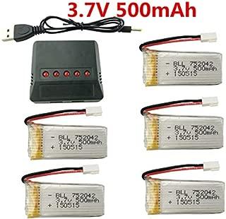 sea jump 3.7V 500mAh 25C Lipo Battery 5Pcs +1pcs X5 Charger for JJRC H31 H37 H6D Hubsan X4 FPV H107C H107D H107L H107P H108 JXD392 JXD388 JXD385 UDI U816A SYMA X5C X5SW HS170 HS170C HS170G F180W F180C