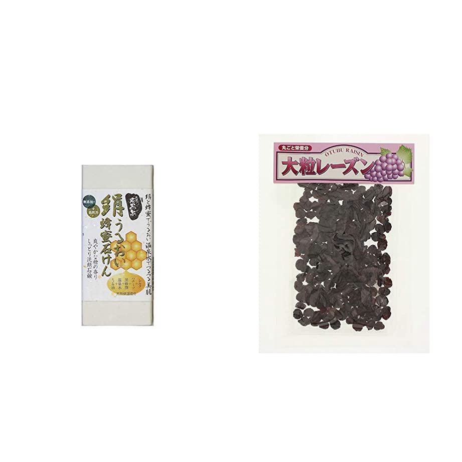 [2点セット] ひのき炭黒泉 絹うるおい蜂蜜石けん(75g×2)?大粒レーズン(280g)