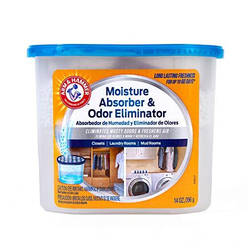 Arm & Hammer Fragrance Free Disposable Moisture Absorber and Odor Eliminator 14 oz. Tub