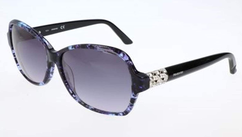 Swarovski SK 0088 83W bluee Speck Plastic Square Sunglasses Grey Gradient Lens