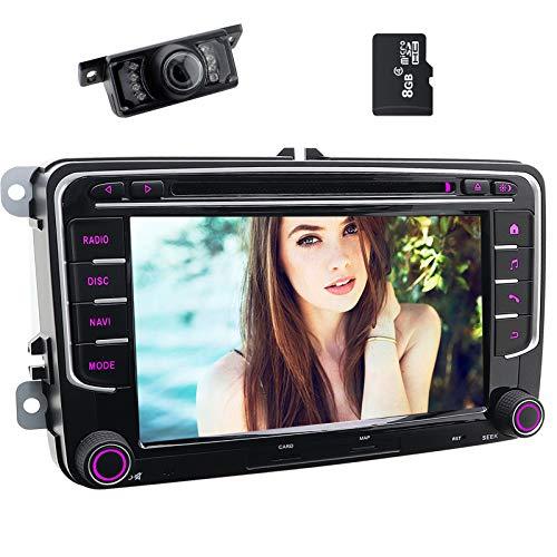 Double Din Car Stereo 7inch Touchscreen DVD Player in Dash GPS Navigation USB/SD FM AM RDS Autoradio Bluetooth Headunit for VW Golf 5 6 Polo Jetta TOURAN EOS Passat CC TIGUAN Sharan Scirocco
