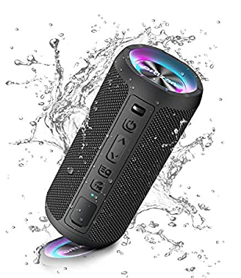 Ortizan Bluetooth Speaker, Portable Wireless Bluetooth Speakers With Led Light, Louder Volume & Enhanced Bass, IPX7 Waterproof, 30H Playtime, Durable Loud Speaker Bluetooth for Travel, Outdoor, Sport from Ortizan