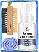 Shoe Cleaner, Rich Foam Clean 80Pairs, Suede Shoe Cleaner, Leather Cleaner, Sneaker Cleaner Kit, Shoe Cleaning Kit with Brush Towel, Alloda (Clear)