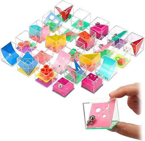 INTVN Set de 24 Puzzles Mini Juegos Rompecabezas Set Juegos con Niveles Diferentes Perfectos para Regalos de Fiesta Juegos de Habilidad para Adultos o Niños
