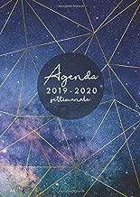 Agenda settimanale 2019 2020 A5: Agenda 2019/2020 giornaliera italiano   16 mesi   settembre 2019 - dicembre 2020   stelle del cielo notturno (Italian Edition)