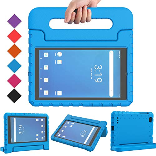 BMOUO Onn 7 inch Tablet Case, Surf Onn 7 Tablet Case, Shock Proof Light Weight Protective Handle Stand Kids Case for Walmart Onn 7 inch Android Tablet 2020/2019 (Model: 100005206/100015685) - Blue