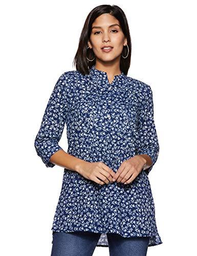Amazon Brand - Myx Women's Cotton Straight Kurti (SS17INDNIT04IndigoS)