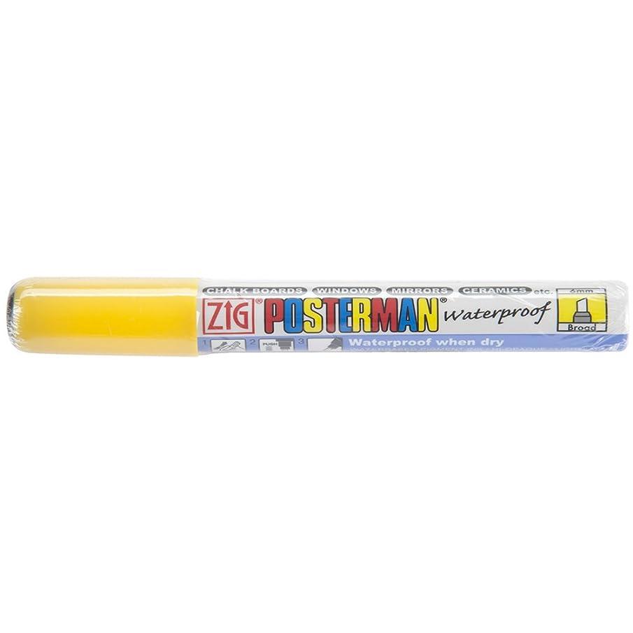 Zig 6mm Posterman Broad Chisel Tip Marker, Yellow