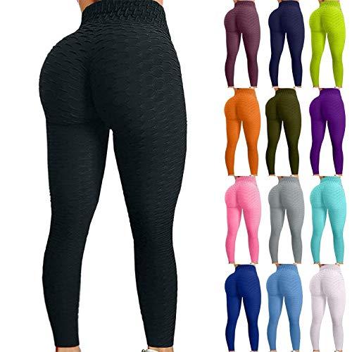 Holyeagle TIK Tok Leggings Pantalones de Yoga para Mujer Levantamiento de glúteos Medias de Entrenamiento de Cintura Alta