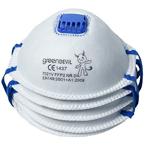 Connex COXT939124 - Máscara antipolvo con filtro y válvula (FFP2, 5 unidades)