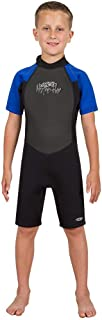 Hyperflex Access Child's 2mm Backzip Shorty Wetsuit - Warm, Comfortable Kid's Springsuit with 4-Way Stretch Neoprene and SPF Protection - Adjustable Collar and Flat Lock Construction