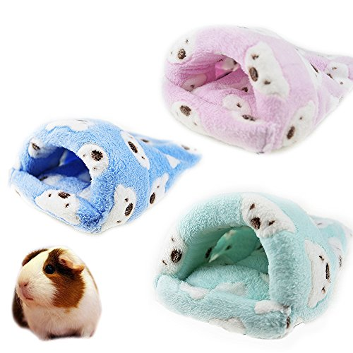 Rat Hamster House Cama de invierno cálido forro polar pequeño mascota ardilla erizo chinchilla conejo cobayas cerdo cama casa jaula nido hámster accesorios