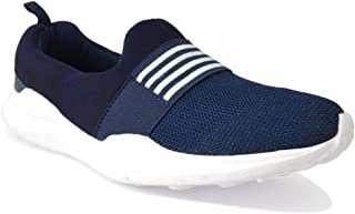 Casual Navy Blue Slip-on Easy Walking Sneakers Shoes for Men