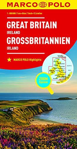 MARCO POLO Länderkarte Großbritannien, Irland 1:800 000: Wegenkaart 1:800 000 (MARCO POLO Länderkarten)