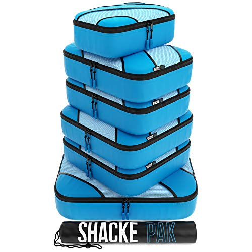 Shacke Adventurer 7pcs Packing Cube - Travel Luggage packing Organizers (Aqua Teal, Set)