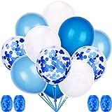 60 Stück Luftballons Blau