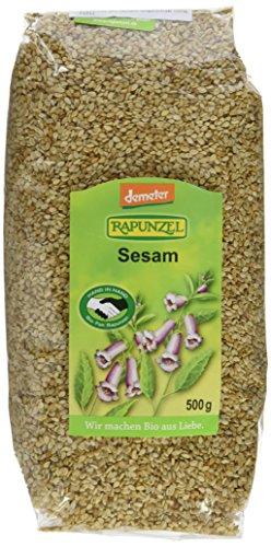 Rapunzel Sesam ungeschält HIH, demeter, 1er Pack (1 x 500 g) - Bio