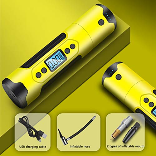 Bandinflator draadloze Smart Auto Air Compressor, draagbare elektrische pomp for autobanden Emergency Power Bank Tire Pressure Test (Color : Yellow)