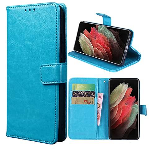 Hülle für Xiaomi Redmi Note 8 2021/Note 8 Schutzhülle lederhülle Leder Handy Hüllen, Flip Hülle Handytasche Tasche Handyhülle für Xiaomi Redmi Note 8 2021/Note 8, Blau