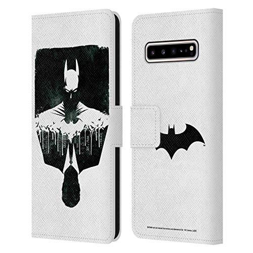 Head Case Designs Oficial Batman DC Comics Alter Ego Paisaje Urbano Dualidad Carcasa de Cuero Tipo Libro Compatible con Samsung Galaxy S10 5G