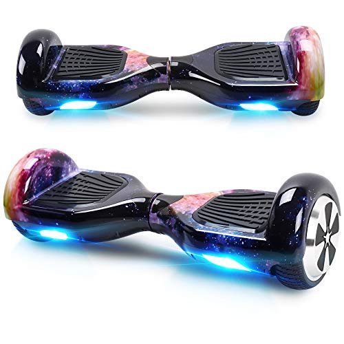 Windgoo Hoverboard, 6.5 Zoll Self Balance Scooter mit Starker Dual Motor - LED Lights Elektro Scooter, Self Balancing Scooter für Kinder (Starry Purple)