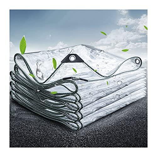 ZWYSL Lona Impermeable Transparente Cubierta de Piscina para Plantas Lona Impermeable de Vidrio Blando de PVC Marquesina de balcón Cortina a Prueba de Viento 10 Talla