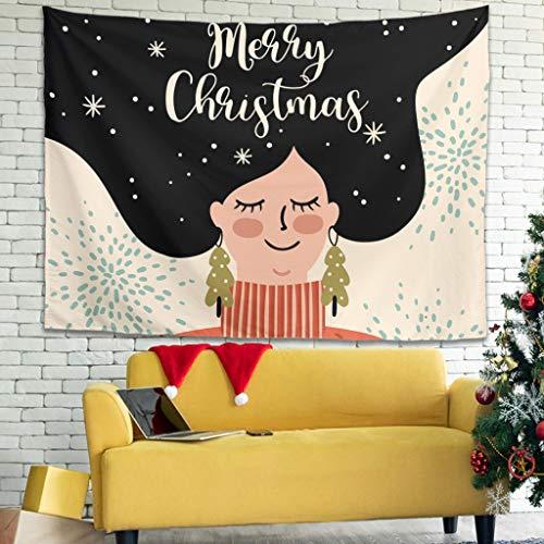 Zhenxinganghu Christmas Happy Kunsthandwerk wandkleed tapijten wandkleed met etnische decoratieve voor meerdere scènes