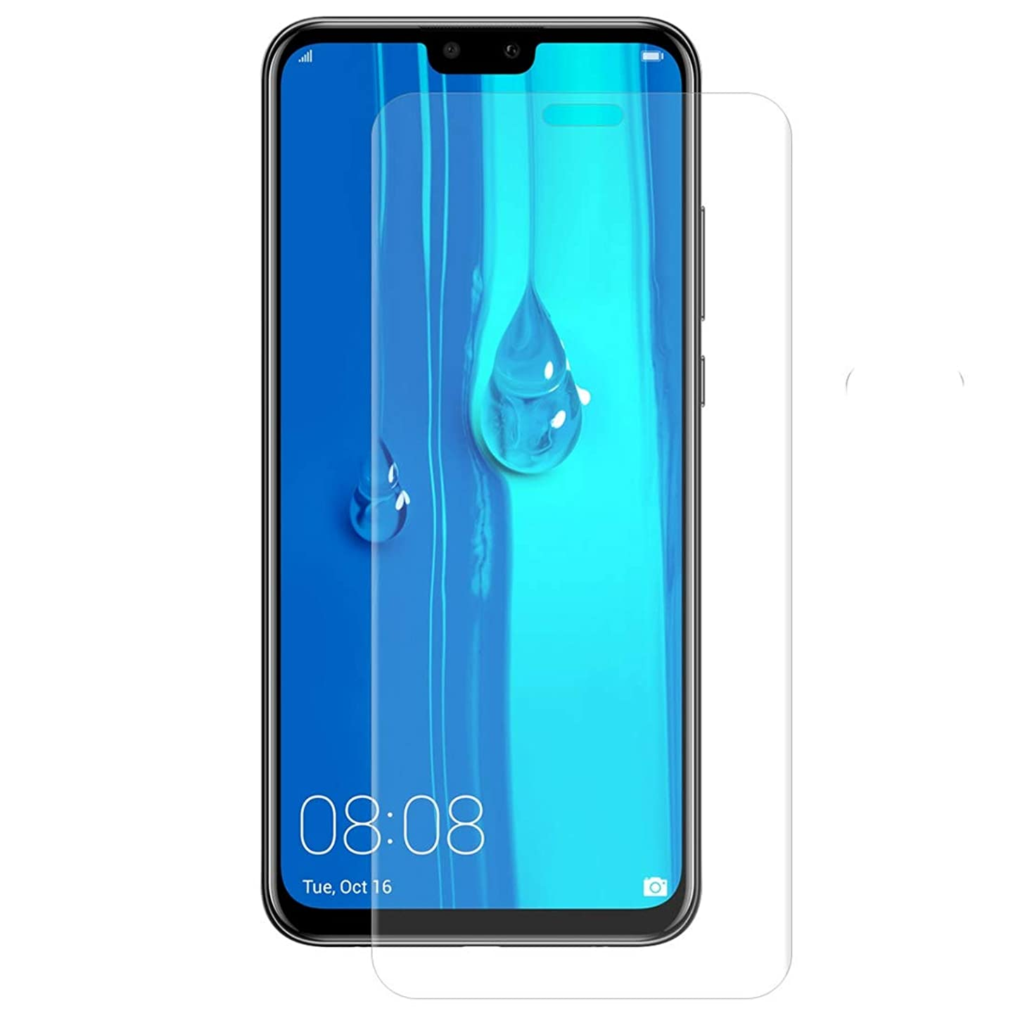 Jiangym Mobile Phone Screen Protector Hat-Prince 3D Full Screen Protector Explosion-Proof Hydrogel Film for Huawei Y9 (2019) Screen Protector