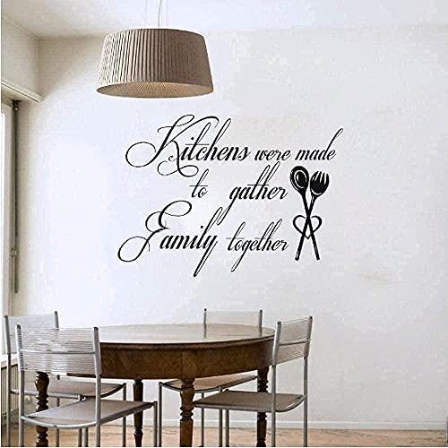 Etiqueta De La Pared Cocina Es El Hogar Palabra Arte Vinilo Impermeable Etiqueta De La Pared De La Cocina Azulejo Fiesta 58Cmx43Cm