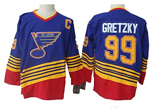 Wayne Gretzky#99 St. Louis Blues Eishockey Trikots Jersey NHL Herren Sweatshirts Atmungsaktiv T-Shirt Bekleidung (Color : 1, Size : XXL)