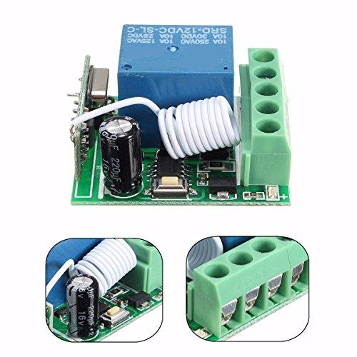 Radiografische relais RF afstandsbediening schakelaar ontvanger 10A DC12V 433MHz 1C