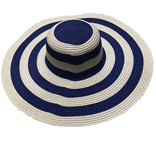 Zonnekleppen MYKK Big Brim Classic Zwart Wit Gestreepte Strohoed Casual Outdoor Beach Caps Voor Dames Zomer Dames Zonnehoeden Voor Dames
