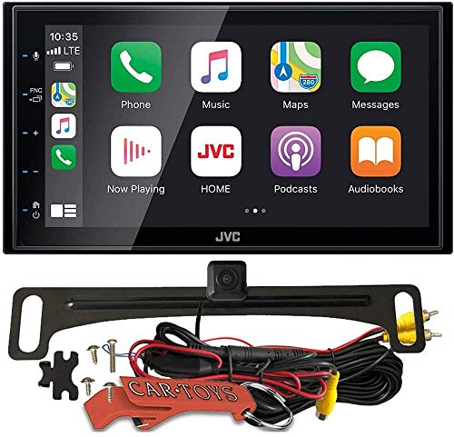 JVC KW-M560BT 6.8' Capacitive Multimedia Car Receiver Safe Driver's Bundle with Voxx HD Backup Camera. With Apple CarPlay, Android Auto, Android USB Mirroring, Bluetooth, SiriusXM Ready.
