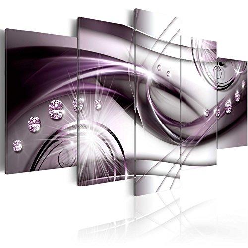 murando - Bilder Ornamente 200x100 cm Vlies Leinwandbild 5 TLG Kunstdruck modern Wandbilder XXL Wanddekoration Design Wand Bild - Abstrakt Diamant Perlen a-A-0174-b-p