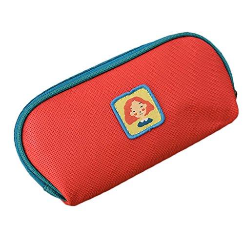 Fablcrew Schablone Tasche aus Stoffmaterial, Aufbewahrungstasche, Aufbewahrungstaschen für Ordner 20 x 10 cm, Tasche der Comic-Münze rot