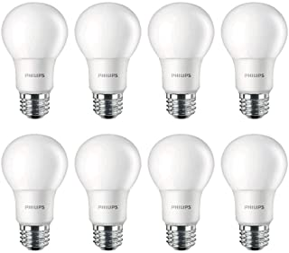 Philips LED 462002 100 Watt Equivalent Daylight A19 LED Light Bulb (Pack of 8), 8-Pack, 8 Count