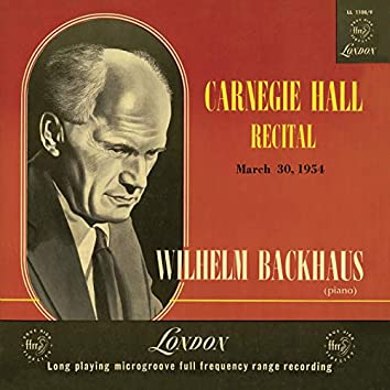 Carnegie Hall Recital 1954 (Live)
