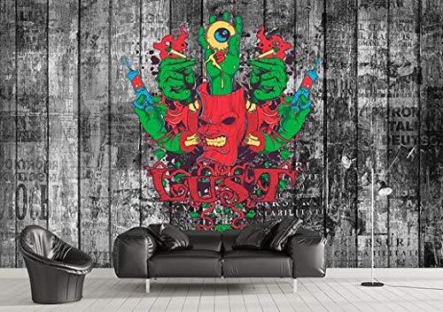 Papel pintado de pared patrón de tendencia retro DIY salón dormitorio decoración de oficina efecto 3D papel pintado personalizado pegatinas de pared-250 cm x 175 cm (largo x alto).