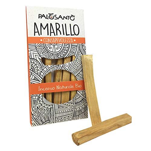 Palo Santo Holzstäbchen Amarillo – Natürlicher Weihrauch – Original Bursera Graveolens – 5 Stck.
