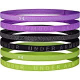 Under Armour Fascia per Capelli Heathered Mini-Confezione da 6 Pezzi, Donna, Exotic Bloom/Black/Crystal Lilac (568), OSFA